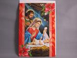 イタリア製 クリスマスカード 定型 聖家族0603-1