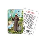 イタリア 日本語 メダイ付きカード アッシジの聖フランシスコ