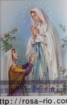 ご絵 手判 ルルドの聖母A C-35 14×9センチ 紙裏白