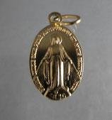 おひとり2個まで G「奇跡のメダル教会/Chapelle Notre-Dame de la medaille Miraculeuse」メダル金色17ミリ