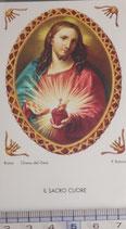 ご絵 絵画 IL SACRO CUORE B-10 11,5×6.7センチ 紙裏白