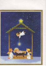 Caspari 英語 クリスマスカード 定型小型 天使の祝福