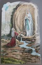イタリア ご絵 CLARA 12 12.5×7.5センチ 大判飾り縁箔押し 紙裏白