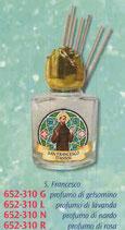 ネコポス不可 イタリア FB 652-312 祈りのための香り 小瓶 アッシジの聖フランシスコ 8m ガラス小瓶