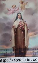ご絵 手判 幼きイエスの聖テレジア C-44 14×9センチ 紙裏白