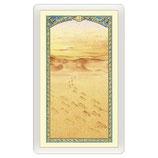 パウチカード イタリア2463Holy card, footprints in sand, Message of Tenderness ITA, 10x5 cm