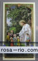 イタリア パウチご絵 イエスと子供達 11×7センチ
