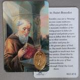 イタリア プラ箔押しカード RCC 97 8.3×5.5センチ 裏面英語祈り