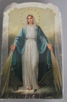 イタリア ご絵 CLARA 7 12.5×7.5センチ 大判飾り縁箔押し 紙裏白
