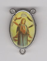 ロザリオセンターメダイ カトリックセンター08060 両面 奇跡の聖母 枠内20ミリ 縁まで23ミリ