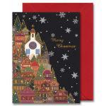 チキュウグリーディングス クリスマスカード S200-83 日本製