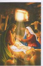 イタリア製 クリスマスカード 定型 聖家族 220-2