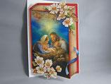 イタリア製 クリスマスカード 定型 聖家族0640-1