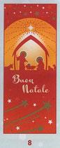 FB  NATALE   イタリア製 紙しおりマットタイプ 厚め裏白 6×15センチ 90-8