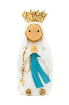 LDW 175394YX   Lady of Lourdes with crown statue 王冠のルルドの聖母