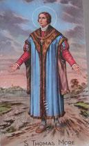 イタリア ご絵 RENI 聖トーマスモレ 1257 10×6センチ 紙裏白