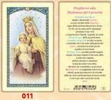 イタリア ご絵 FB SERIE 801-011 聖母子 6.4×11.4センチ パウチカード OPP袋入り
