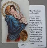イタリア プラ箔押しカード RCC 5 マドニーナ 8.3×5.5センチ 裏面英語祈り