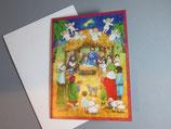 ミニアドベントカレンダー 定型 封筒つき カード 降誕