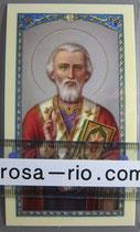 イタリア パウチご絵 聖ニコラウス 11×7センチ