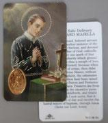 イタリア プラ箔押しカード RCC 58 聖ゲラルド 8.3×5.5センチ 裏面英語祈り