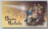 FB NATALE イタリア 新作クリスマスご絵カード&封筒セット 8×13.5センチ裏白 封筒 9×14センチ 定型 408-1