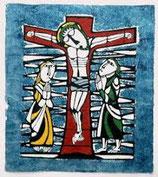 渡辺禎雄聖書版画 絵はがき 十字架の上キリスト