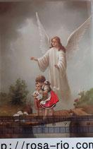 ご絵 手判 守護の天使B C-24 14×9センチ 紙裏白