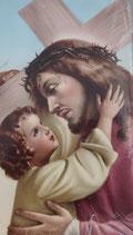 イタリア ご絵 Lippi25 イエス 10×6センチ 紙裏白
