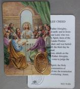 イタリア プラ箔押しカード RCC 75  8.3×5.5センチ 裏面英語祈り