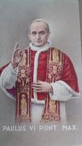 イタリア ご絵 RENI 教皇パウロ6世 1244 10×6センチ 紙裏白