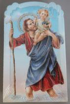 イタリア ご絵 CLARA 44 12.5×7.5センチ 大判飾り縁箔押し 紙裏白