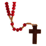 ファティマ24 殉教者のロザリオ  Devotional rosaries Martyrs rosary with red glass beads6 mm - Faith Collection 24/47