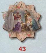 FB NATALE イタリア製 オーナメント 聖家族 741-43 7.5×10センチ