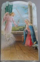 イタリア ご絵 CLARA 30 12.5×7.5センチ 大判飾り縁箔押し 紙裏白