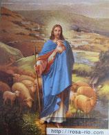 ご絵 大 善き牧者イエス 20×25㎝ 紙裏白