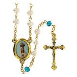 ファティマ3 ファティマ巡礼の聖母ロザリオ    Devotional rosaries Rosary of Our Lady of Pilgrim Fatima with white pearls 5 mm - Faith Collection 3/47