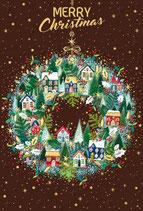 いのちのことば社 59227 クリスマスカード AX280-50   家 リース