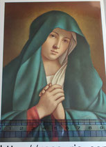 ご絵 紙裏白 15×10.5センチ アートF-4 SASSOFERRATO 悲しみの聖母