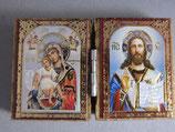ブルガリア正教会 イコン2つ折り ミニi板ご絵  6×4センチA