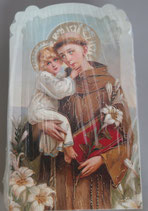 イタリア ご絵 CLARA 06 12.5×7.5センチ 大判飾り縁箔押し 紙裏白