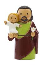 LDW 155265YX Saint Joseph statue    聖ヨゼフ 8センチ