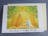 女子パウロ会 クリスマスカード 定型 ひかりの聖家族