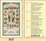 イタリア ご絵 FB SERIE 801-013 ロザリオの祈り 6.4×11.4センチ パウチカード OPP袋入り