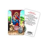 イタリア Art Ita メダイカード 英語 ロザリオの聖母 6962