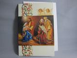 イタリア製 クリスマスカード 定型 聖家族と三賢人 0601-2