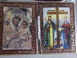 ブルガリア正教会 イコン2つ折り ミニi板ご絵  6×4センチD