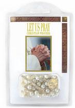 英語 イタリア    小冊子つきロザリオ 「キリスト教の祈りをしましょう」 英語 E1278