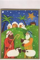 Caspari 英語 クリスマスカード 定型小型 ひつじかい