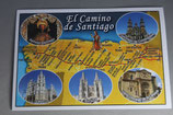 サンチャゴ デ コンポステーラ 巡礼の道絵はがき C